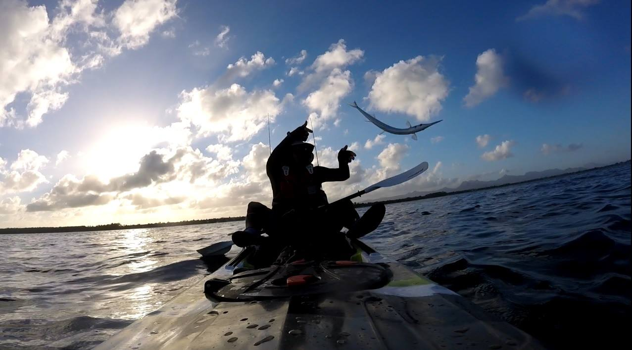 Réveil aux aurores pour une pêche en kayak   Ile Maurice