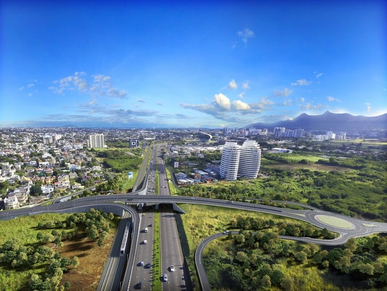 hillcrest interchange, roadwork, mauritius, connected, mauritius connected